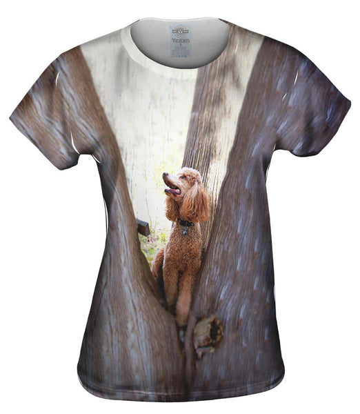 Poodle Up A Tree Womens Top