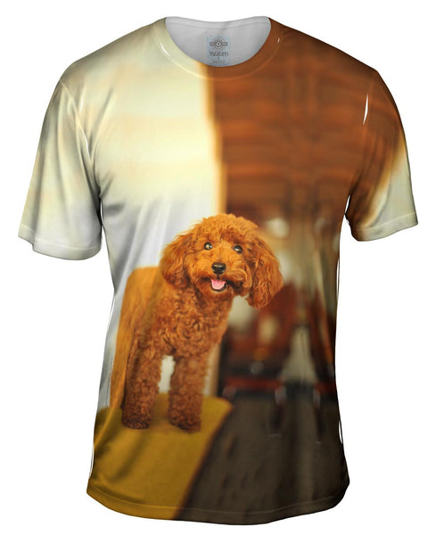 Delightfully Happy Poodle Mens T-Shirt