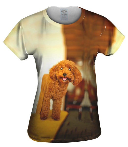 Delightfully Happy Poodle Womens Top