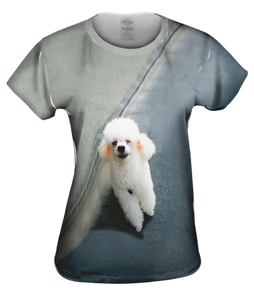 Winking Poodle Womens Top