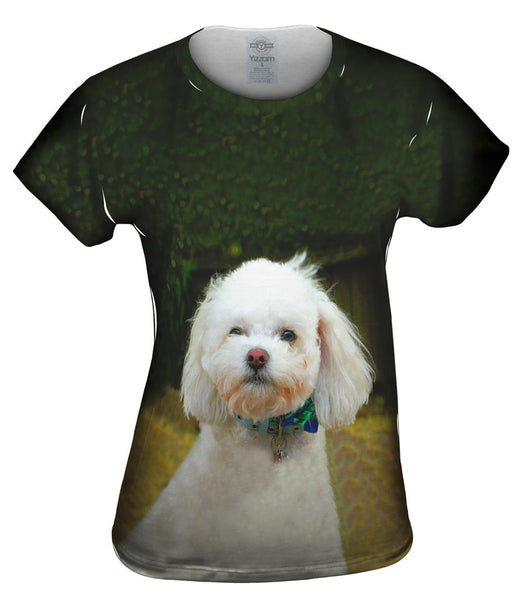 Little White Poodle Womens Top