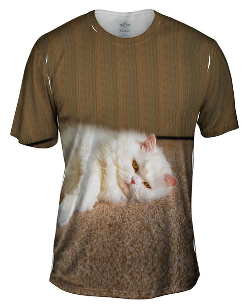Sleepy Cat Mens T-Shirt