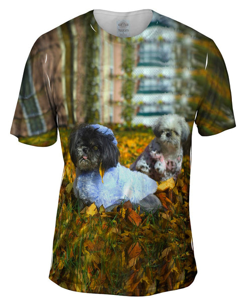 Poodles In Fall Mens T-Shirt