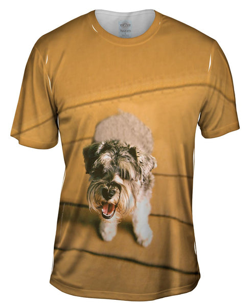 Mini Schnauzer Barking Mens T-Shirt