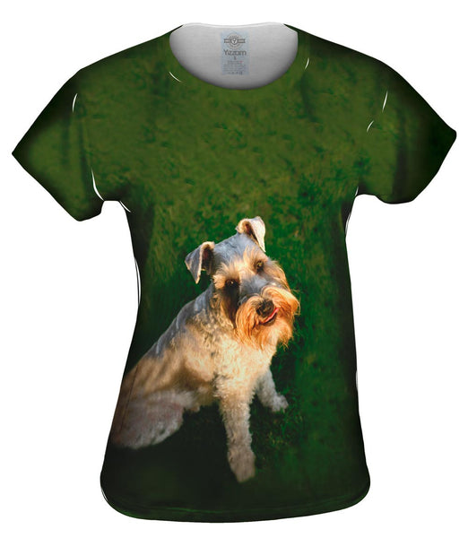 Photo Loving Schnauzer Womens Top
