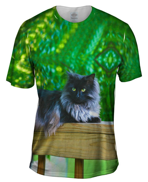 Black Cat Deep Mens T-Shirt
