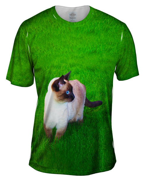 Walkabout Siamese Cat Mens T-Shirt