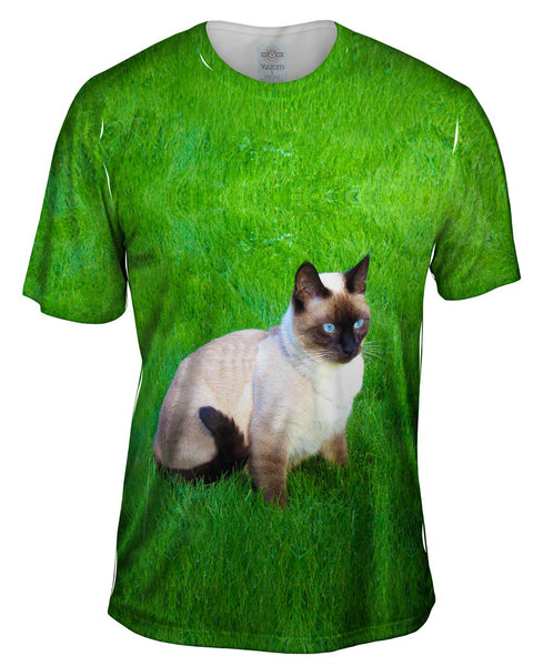 Tranquil Siamese Cat Mens T-Shirt