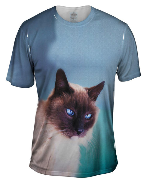 Watchful Eyes Siamese Cat Mens T-Shirt