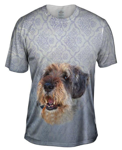 Smiling Decorator Puppy Mens T-Shirt