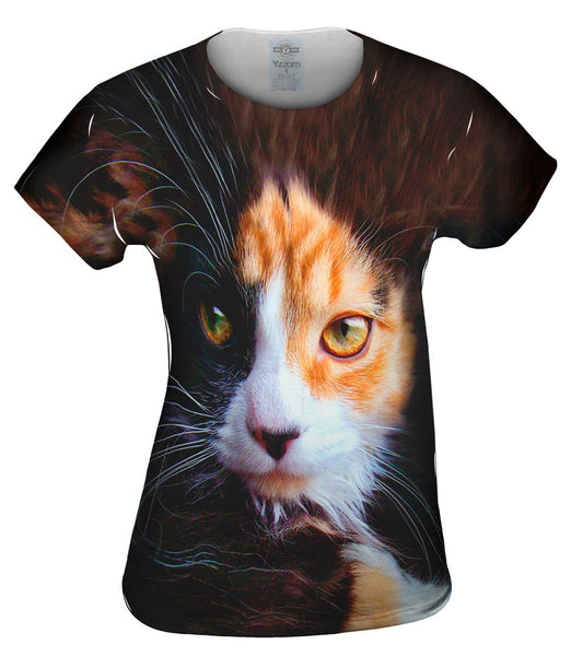 Furry Kitty Cat Face Womens Top