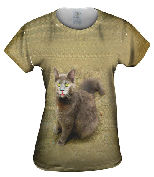 Wow Brown Cat Womens Top