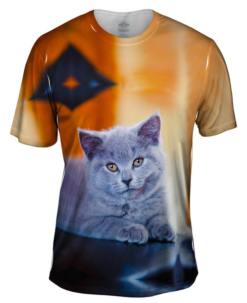 Purple Cat Mens T-Shirt
