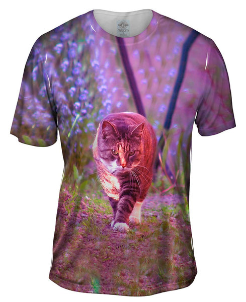 Cat On A Stroll Mens T-Shirt