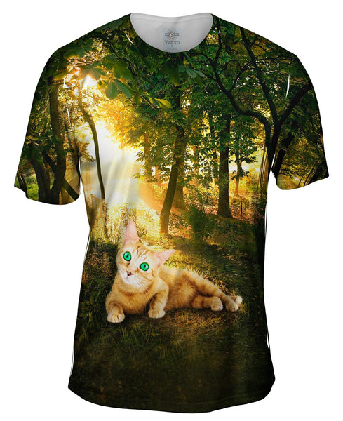 Forest Cool Cat Mens T-Shirt