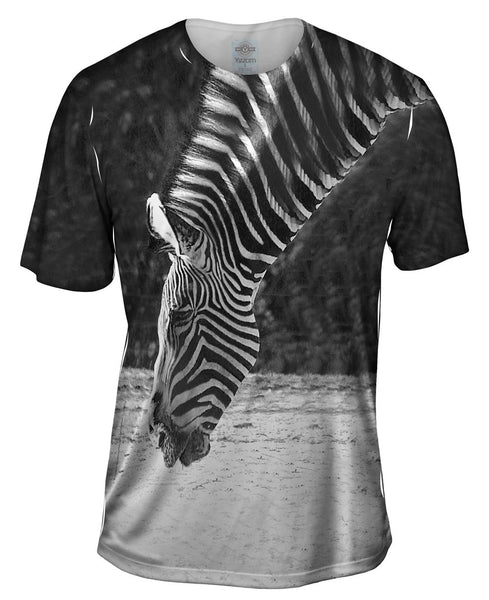 Monochrome Zebra Mens T-Shirt