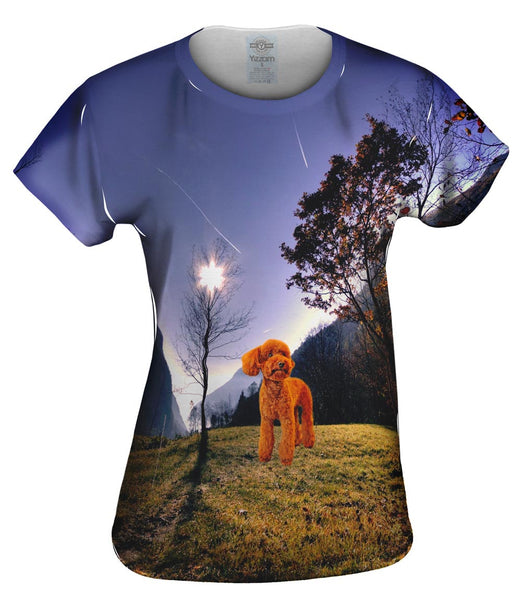 Toy Poodle Forest Womens Top