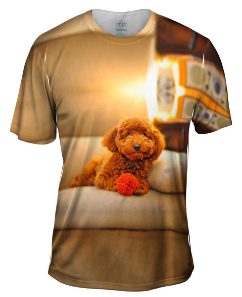 Chocolate Couch Poodle Mens T-Shirt