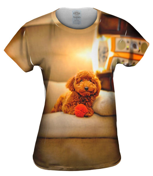 Chocolate Couch Poodle Womens Top