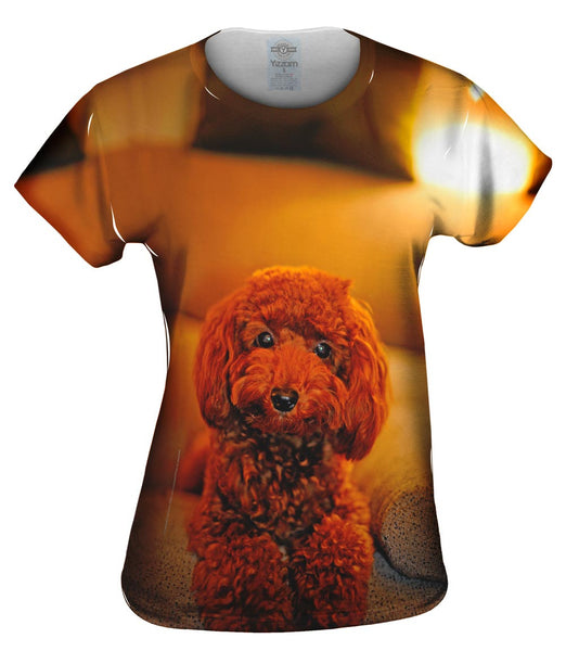 Cute Toy Couch Poodle Womens Top