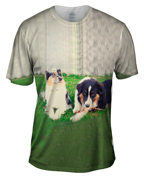 Two Doggy Friends Mens T-Shirt