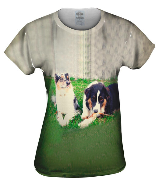 Two Doggy Friends Womens Top