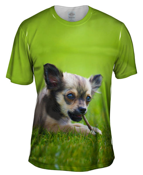 Chihuaha Loves To Chew Mens T-Shirt