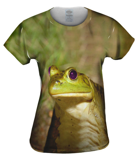 Purple Eyed Frog Womens Top