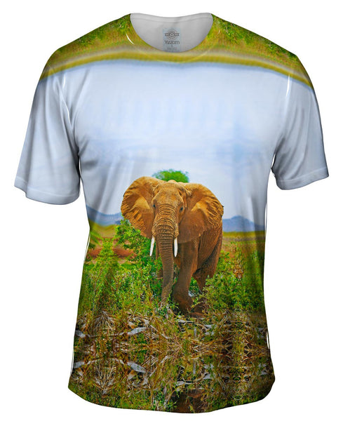 Safari Elephant Mens T-Shirt
