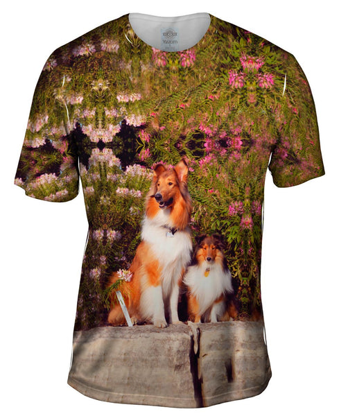 Sheltie Wall Flower Mens T-Shirt