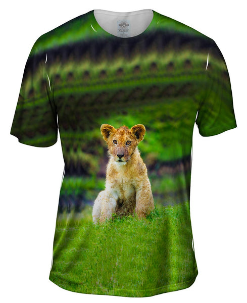 Long Day Lion Cub Mens T-Shirt