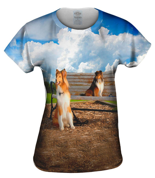 I Love The Park Shelties Womens Top
