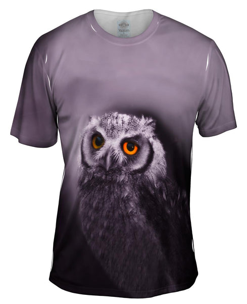 Purple Owl Mens T-Shirt