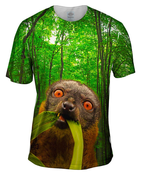 Wild Lemur Forest Mens T-Shirt