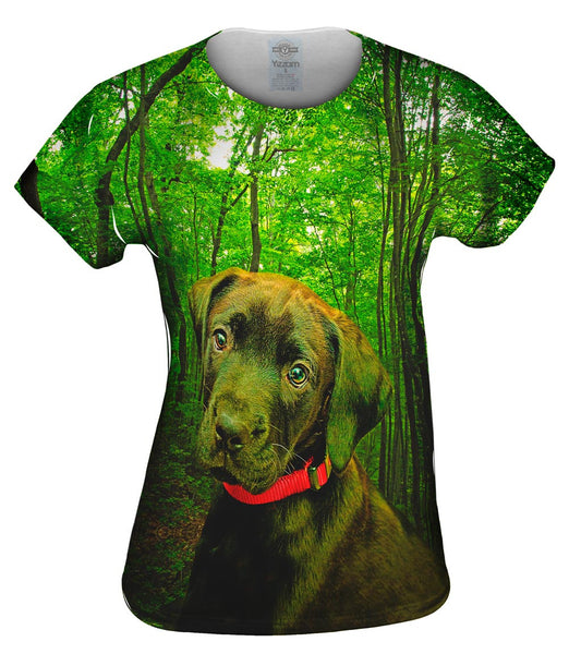 Black Lab Forest Womens Top