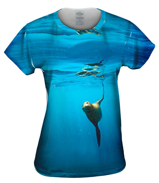 California Sea Lion Flying Womens Top