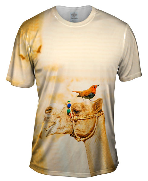 Camel Bird Buddies Mens T-Shirt