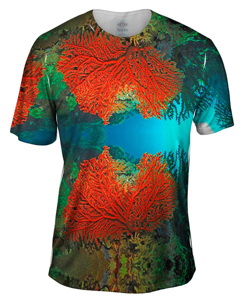 Cave Coral Party Underwater Mens T-Shirt