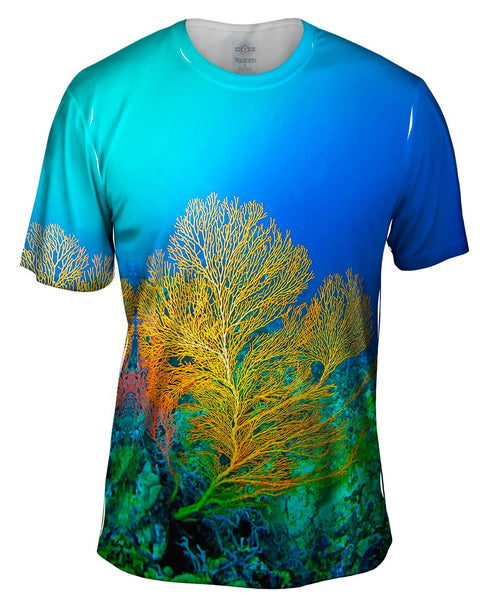 Yellow Coral Underwater Mens T-Shirt