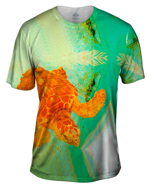 Adorable Orange Turtle Underwater Mens T-Shirt