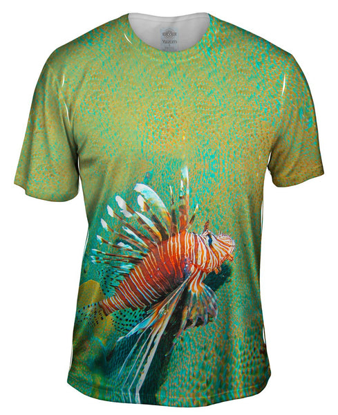 Lionfish Growl Underwater Mens T-Shirt