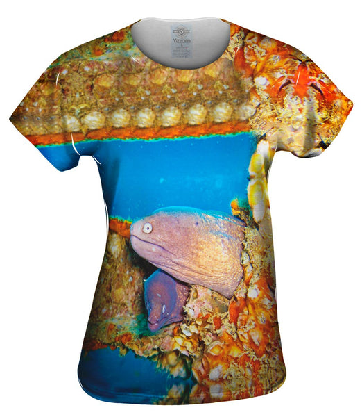 Two Moray Eels Underwater Womens Top