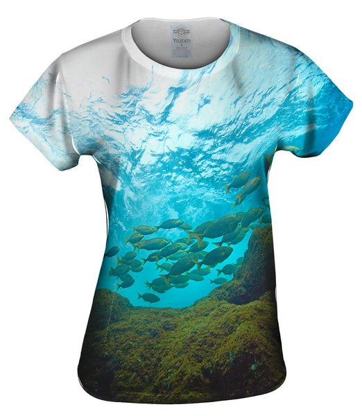 Toujours Au Palier Sky From Underwater Womens Top