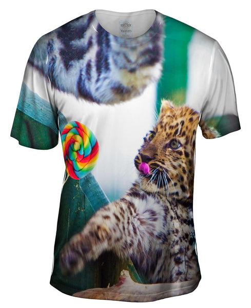 Lollipop Baby Leopard Mens T-Shirt