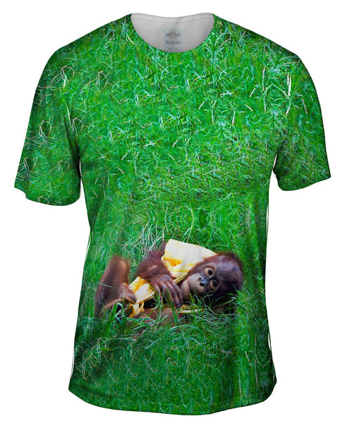 Baby Orangutan Enjoying The Day Mens T-Shirt