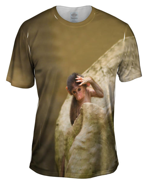Oy What A Long Day Monkey Hamadry Babbon Mens T-Shirt