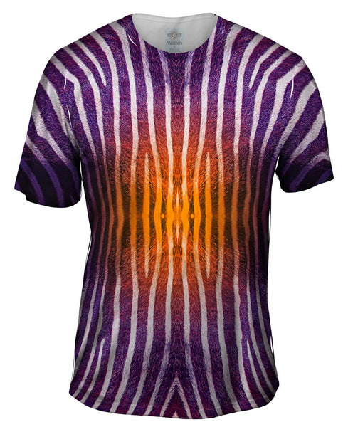Orange Zebra Stripes Copy Mens T-Shirt