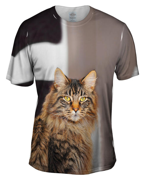 Fluffy Jaguar Cat Mens T-Shirt
