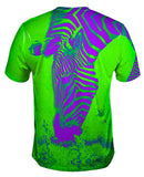 Neon Purple Green Zebra