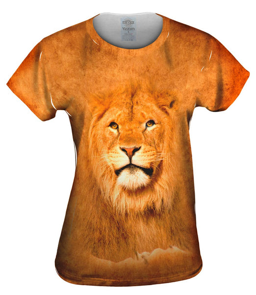 Serious Lion Pose Womens Top